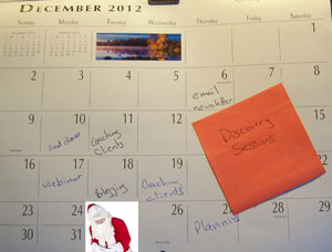 Use the slow time around Christmas to complete your 2013 marketing plan