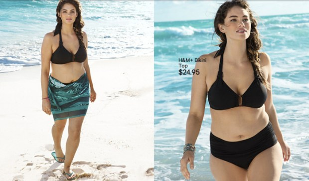 Model, Jennie Runk posing for H&M's 2013 beachwear campaign.