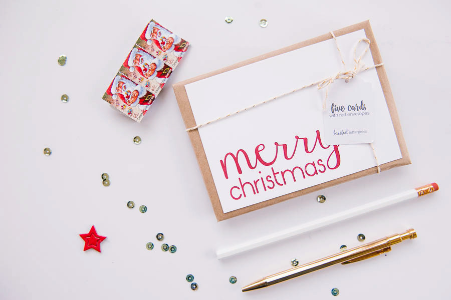 merry christmas - letterpress calligraphy Christmas cards - The ...