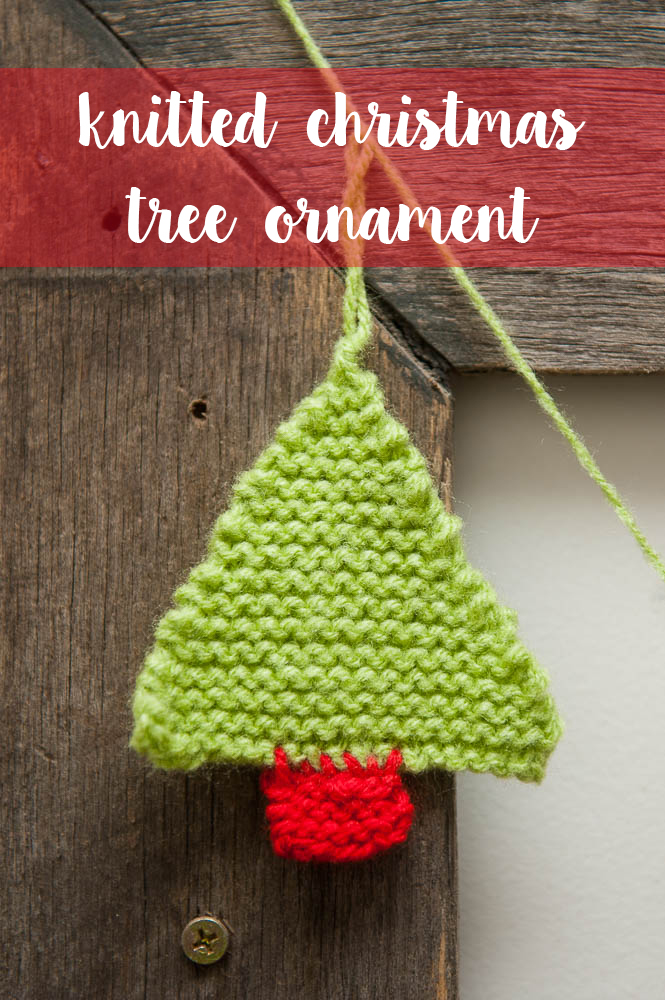 easy knitted christmas tree with free pattern