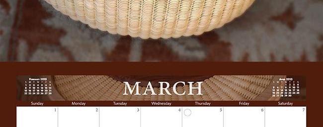 The Cottage Girls 2015 Calendar: March