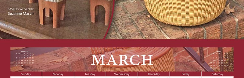 March's Basket Cottage Calendar Cover Girls Are…