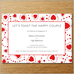 VALENTINE HEARTS ENGAGEMENT INVITE
