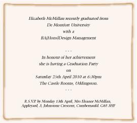 Graduation Invite Wording 4