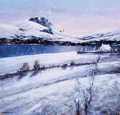 The Storr in snow giclee fine art print by John Bathgate