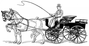 Line art drawing of a phaeton with permission of Pearson Scott Foresman