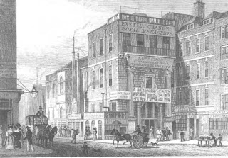 Engraving of the facade of the Royal Menagerie at the Exeter Exchange