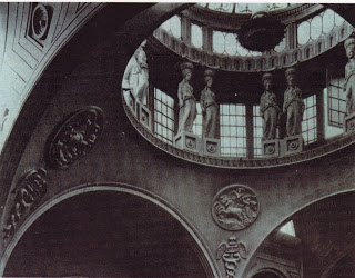 Interior of skylights in Bank of England building