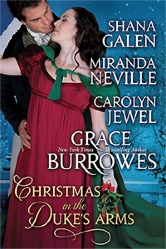 Cover for Christmas in the Duke's Arms by Shana Galen, Miranda Neville, Carolyn Jewel and Grace Burroughs
