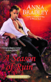 Cover image for A SEASON OF RUIN by Anna Bradley