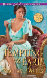 Cover image for TEMPTING THE EARL by Rachel Miles