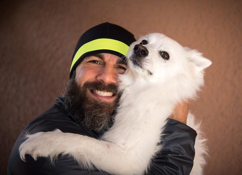Adrian hugging Rambo