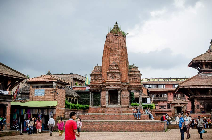 Temple in Bhaktapur, Nepal before the earthquake