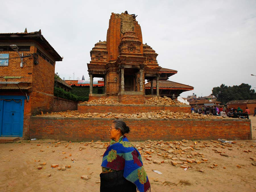 Bhaktapur temple fter the earthquake
