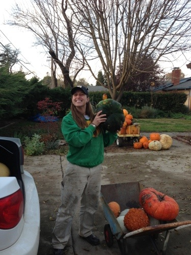 Rene was kind enough to give us her pumpkins she grew! Thanks Rene!