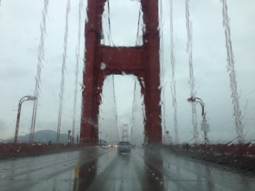 I went over the Gold Gate, it was rainy and kinda scary, but I wanted a picture for this blog!