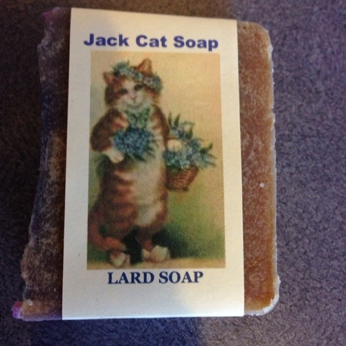 The real deal, homemade lard soap.