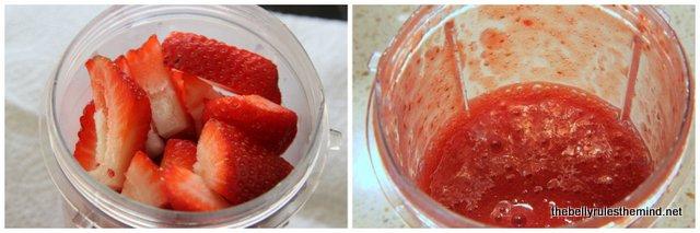 1-Make strawberry pulp