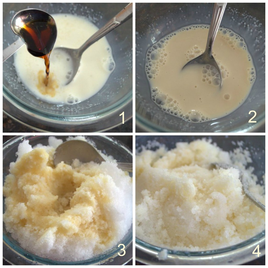 step by step snow ice cream