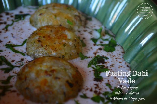 Faraali dahi vade(Aloo& Sago vade) made in Appe pan