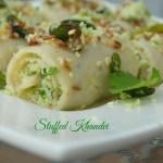 Stuffed Faraali Khandvi
