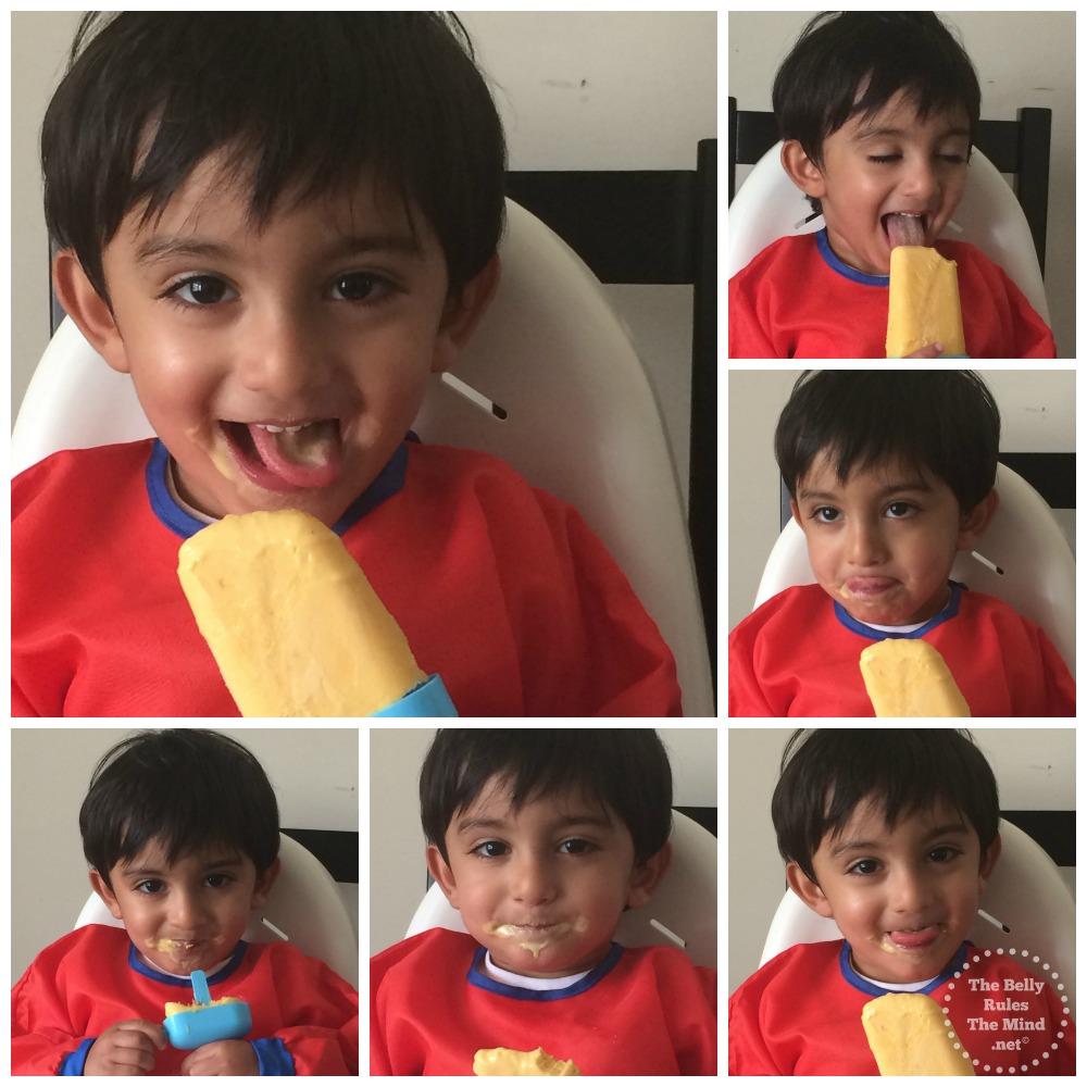 A enjoying his Mango Lassicle