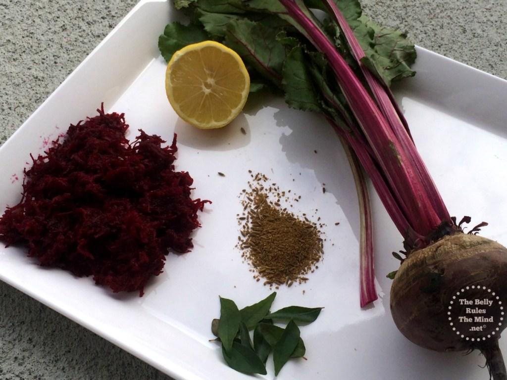 Beetroot Laccha Ingredients