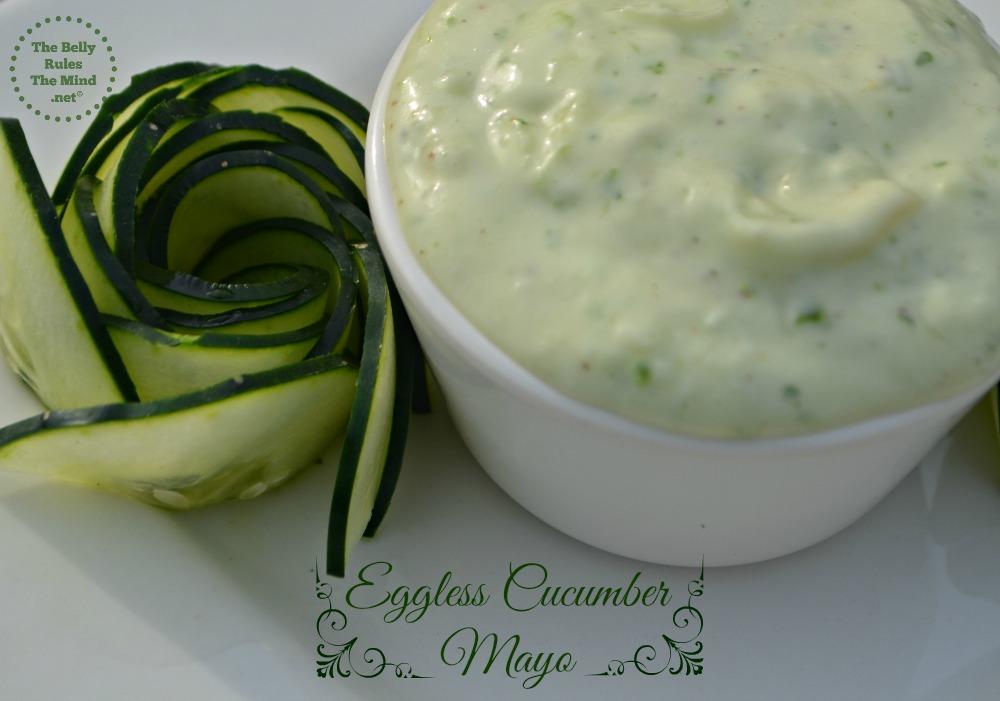 Eggless Cucumber mayonnaise