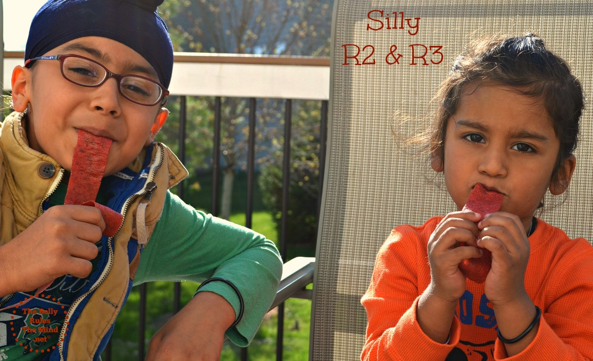 kids enjoying strawberry roll ups