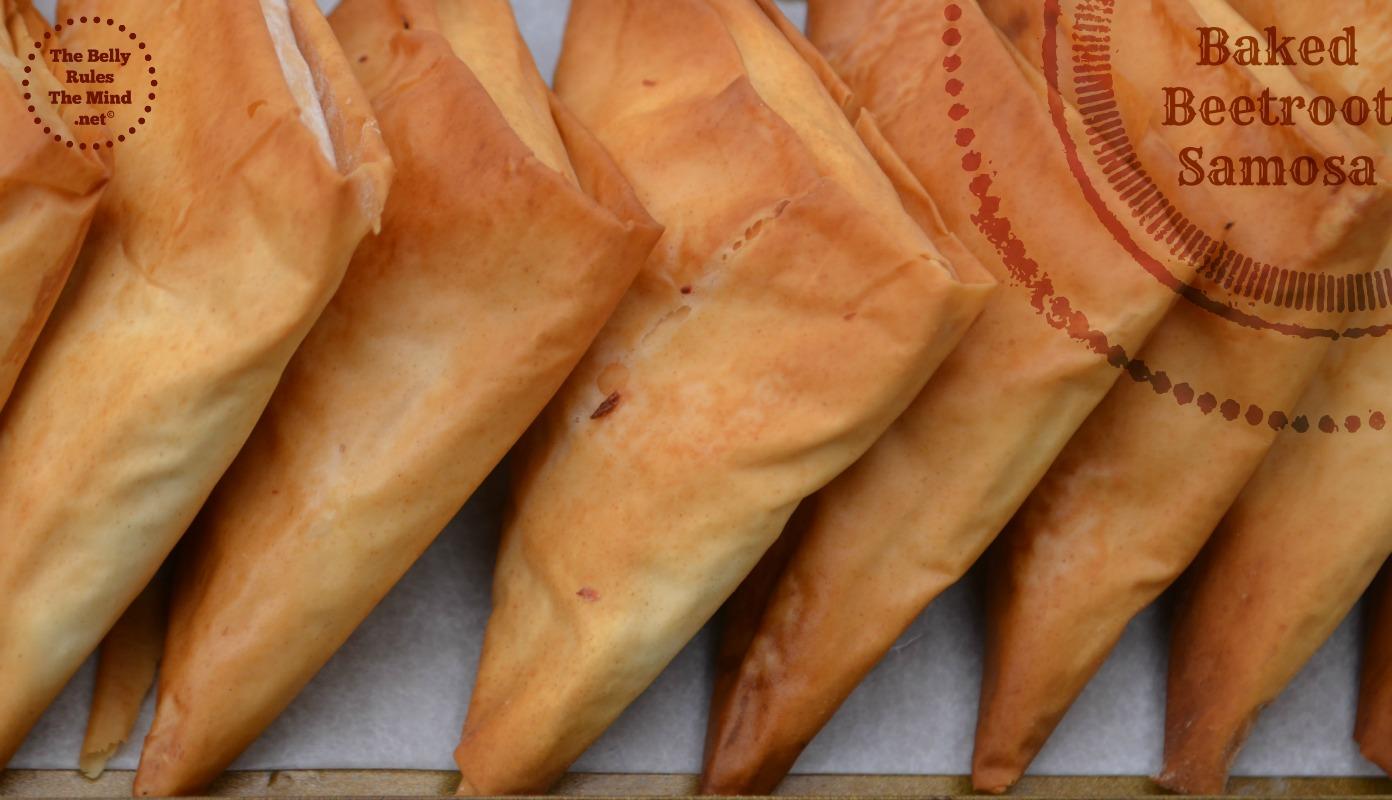 baked beetroot samosa