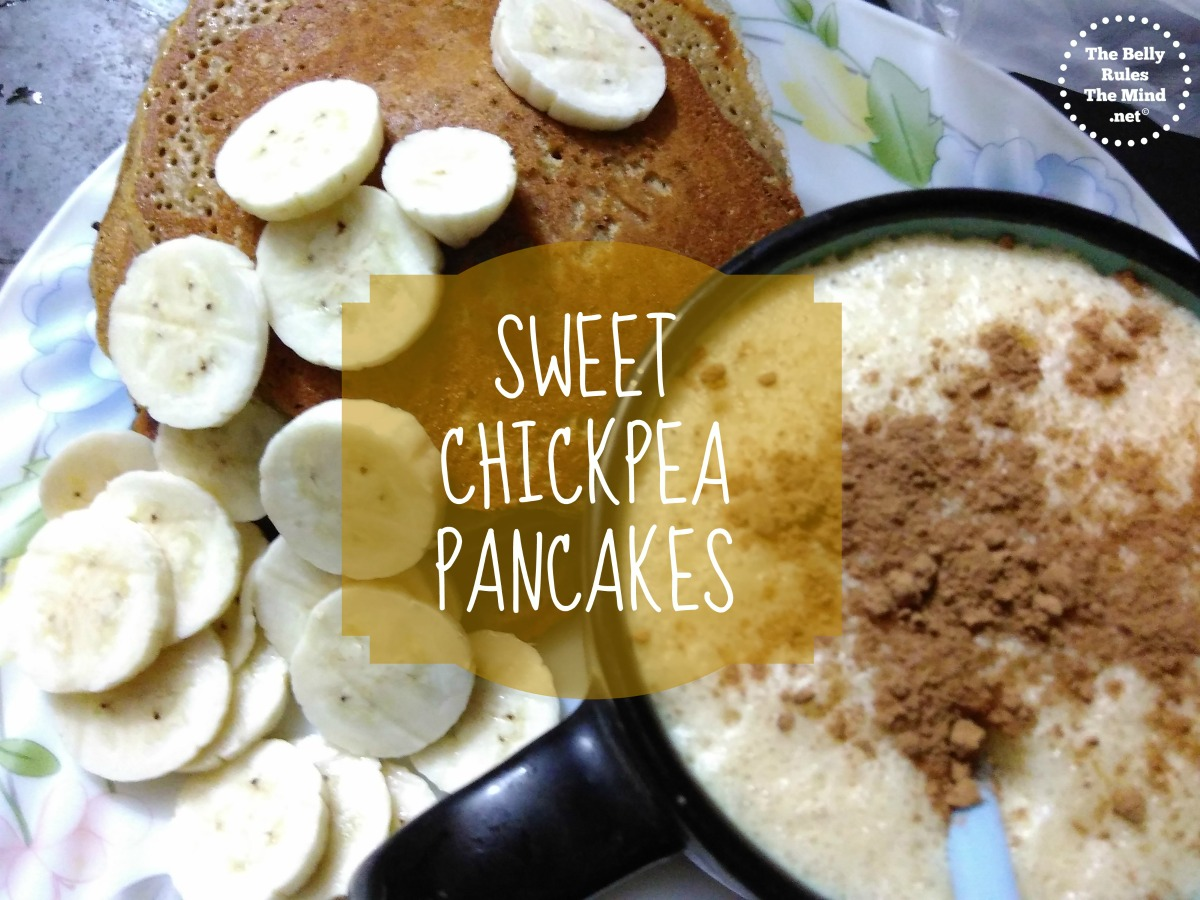 Sweet Chickpea Pancakes.
