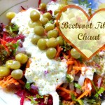 Beetroot Tikki Chaat.