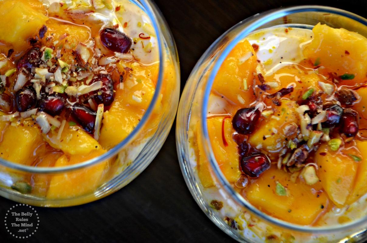 Instant Honey Shrikhand with Mango