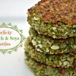 Garlicky  Spinach Soya patties