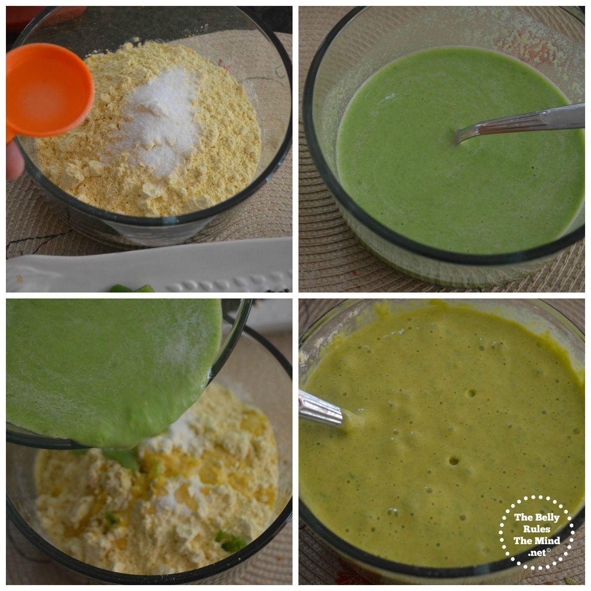 green peas dhkokla