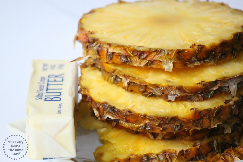 butter with pineapple slices