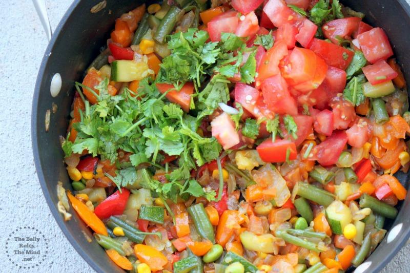 add tomato and cilantro