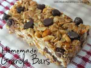 Homemade Granola Bars recipe from {The Best Blog Recipe}