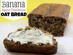 Banana Apple Cinnamon Oat Bread