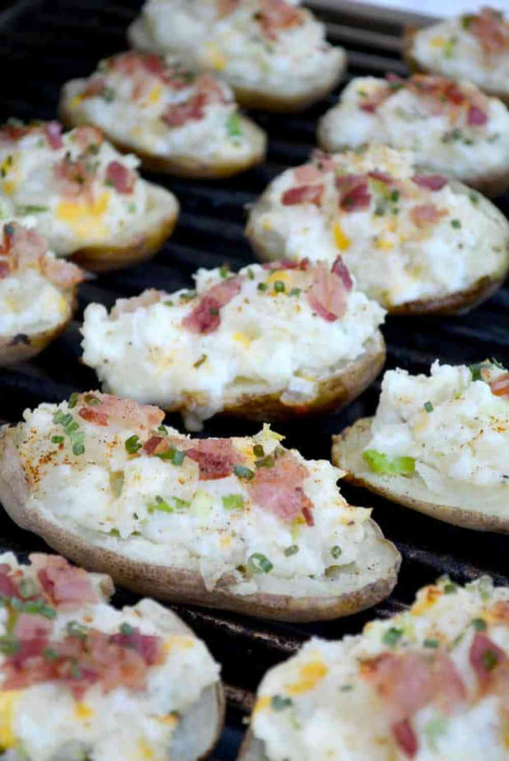 Twice Grilled Baked Potatoes thebestblogrecipes.com