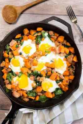 ham sweet potato hash this delicious spinach and ham sweet potato hash ...
