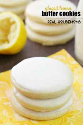 Glazed Lemon Butter Cookies
