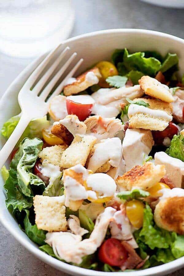 Chicken BLT Salad with Buttermilk Parmesan Dressing _ The Best Blog ...