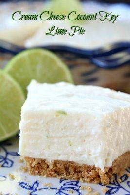 Cream Cheese Coconut Key Lime Pie