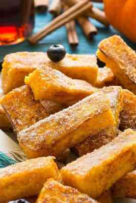 Pumpkin Churro French Toast Sticks