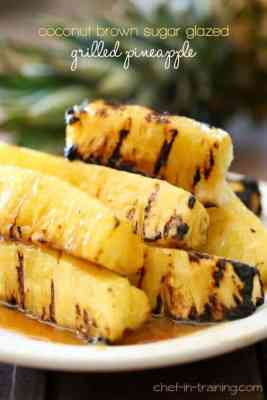 Coconut Brown Sugar Glazed Grilled Pineapple