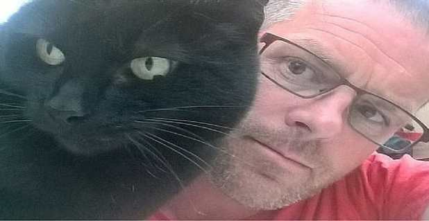 PETER AND GEORGE: Army veteran says his cat has been shot at several times by a neighbour
