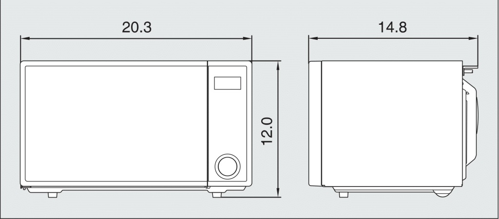 Sharp ZR309YK Specifications Diagram