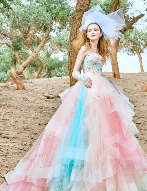 Medium Of Color Wedding Dresses