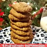 4 Ingredients Home Made Healthy Sugar Cookies